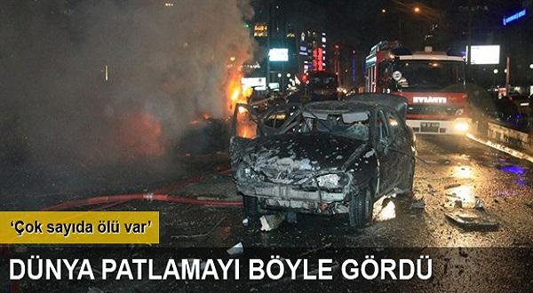 Ankara da büyük patlama