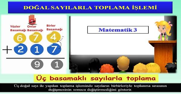 Doğal sayılarla toplama işlemi 3. Sınıf