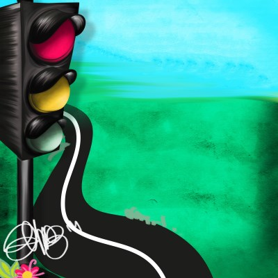 Background with traffic lights