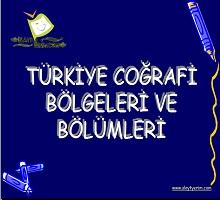 Türkiye Coğrafi bölgeleri ve bölümleri