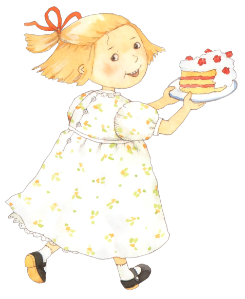 A child with birthday cake