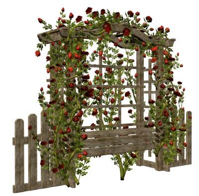 Floral garden gate