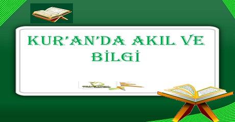 Kuran'da akıl ve bilgi