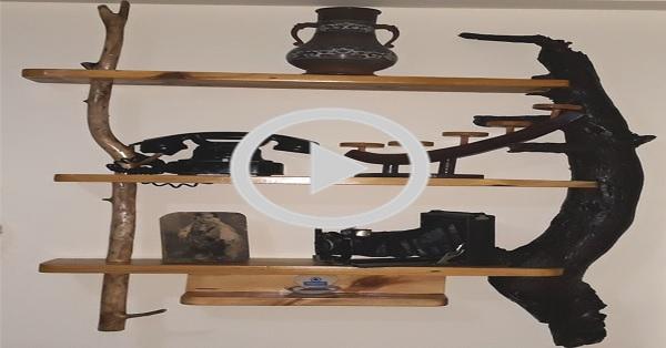 Dekoratif ve otantik raf yapımı - KENDİN YAP