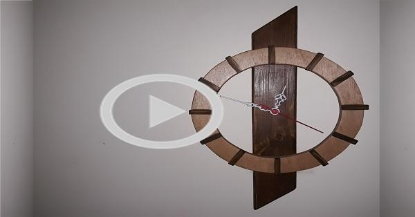 Modern ahşap saat yapımı-KENDİN YAP
