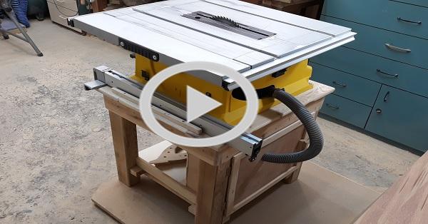 Yatar testere için talaş toplama sistemli Stand /KENDİN YAP