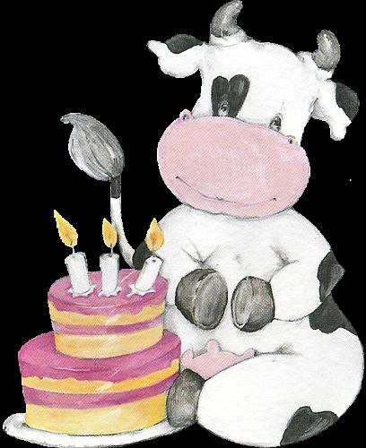 Birthday cow