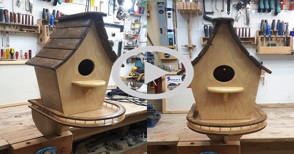 Balkonlu kuş evi yapımı / KENDİN YAP