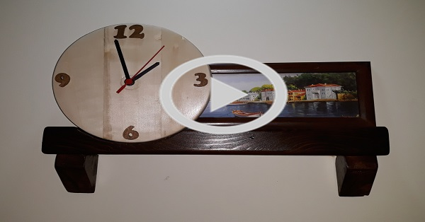Nostaljik ahşap duvar saati yapımı