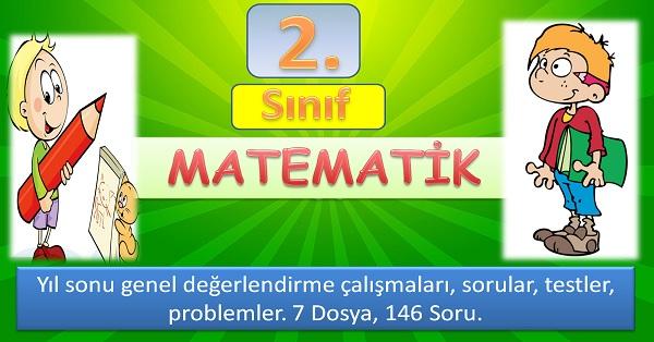 2. Sınıf Matematik Yıl sonu genel değerlendirme dosyaları