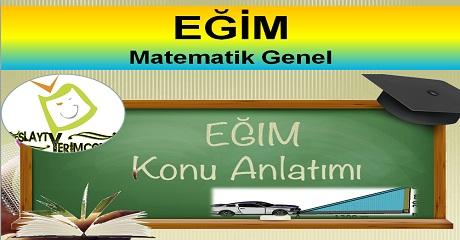 Eğim - Matematik 8