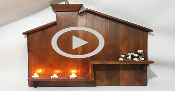 Paletten dekoratif pano raf yapımı - KENDİN YAP