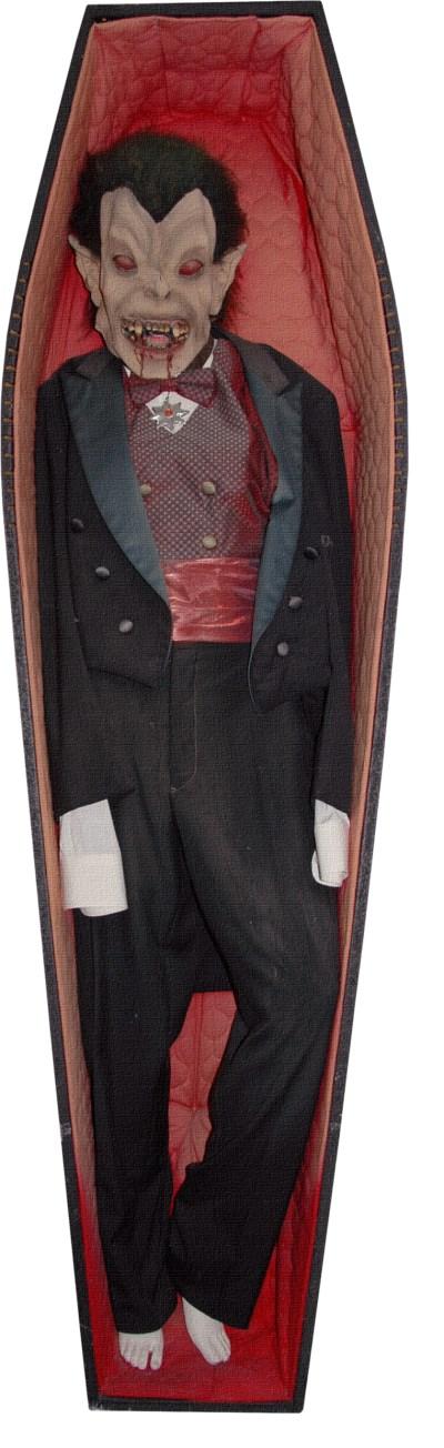 Vampire in the coffin