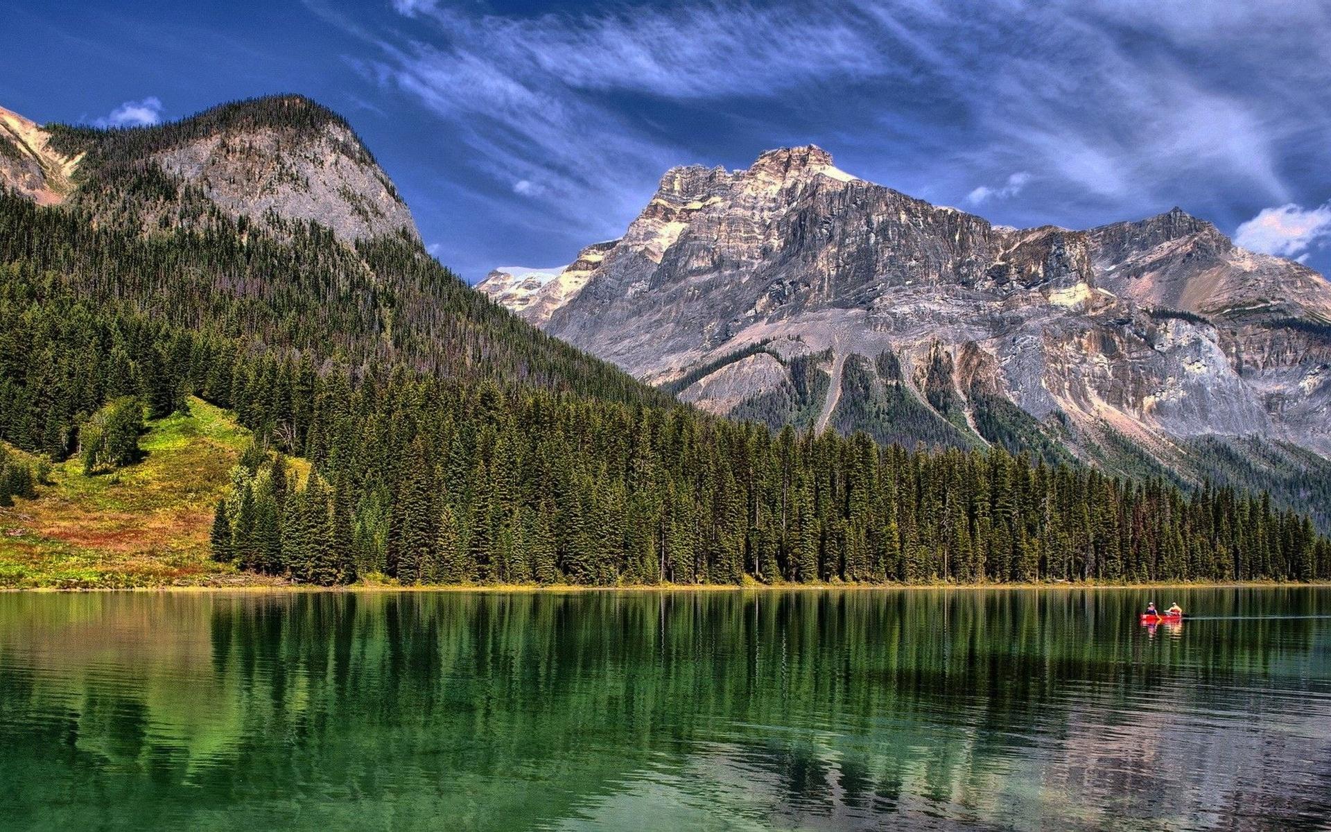 горы озеро деревья небо  № 3234879  скачать