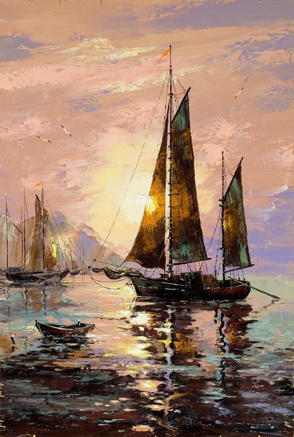Painting sea landscape