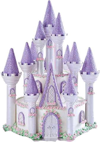 birthday cake with castle