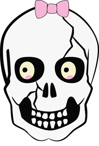 Ribboned skull