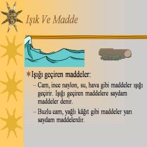 Işık ve Madde
