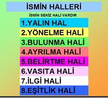 İsmin Halleri