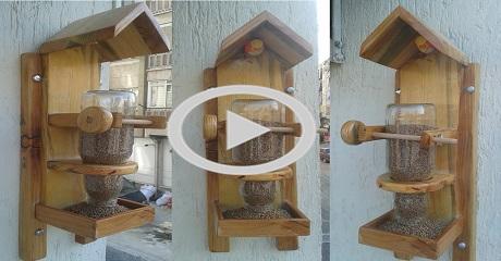 Kuş yemliği yapımı