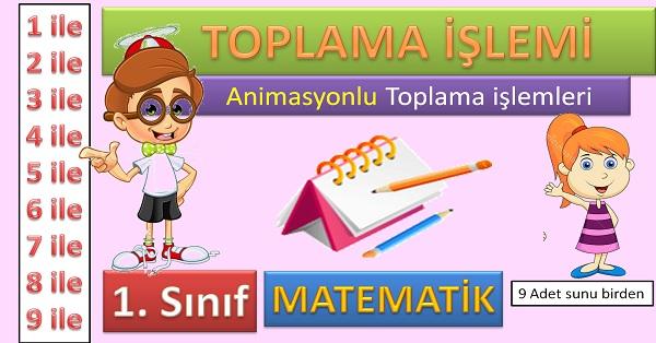 Toplama işlemi. 1. Sınıf animasyonlu sunumları