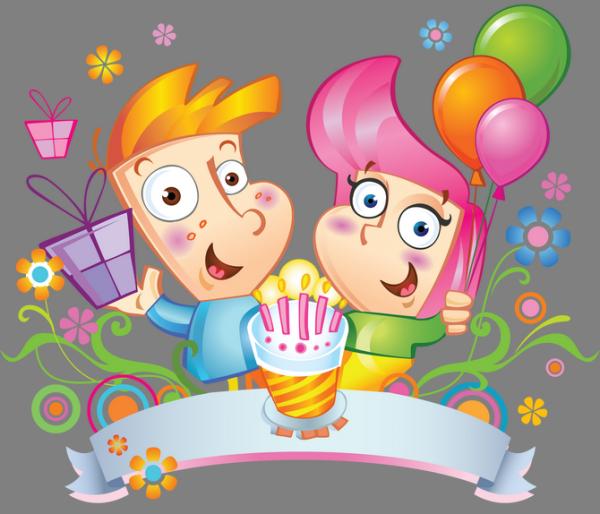 The kids celebrate birthday