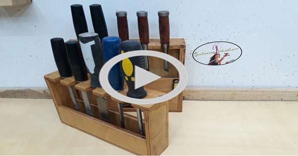 Iskarpale (keskiler) alet askı rafı yapımı-KENDİN YAP-