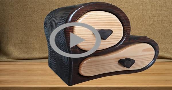 Kalpli çekmeceli ahşap takı kutusu yapımı