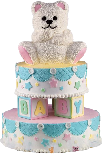 Birthday cake with teddy bears