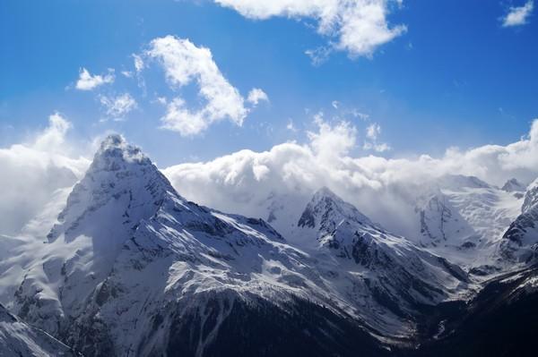 snowy mountain landscape