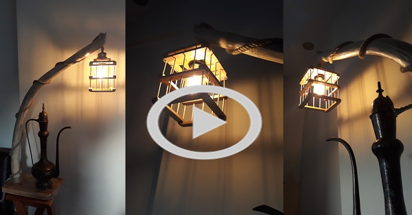 Rustik lambader - KENDİN YAP