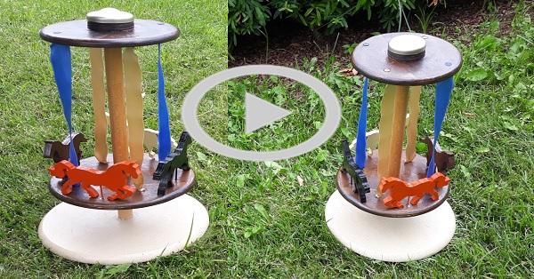 Atlı karınca doğal ahşap oyuncak yapımı