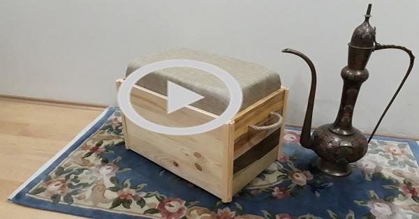 Sandıklı mini bank-tabure-puf yapımı KENDİN YAP