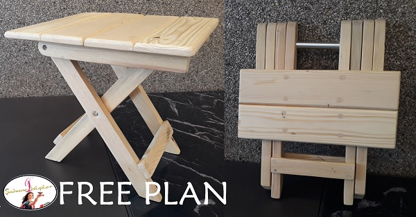 Katlanır tabure planı - Foldable stool plan