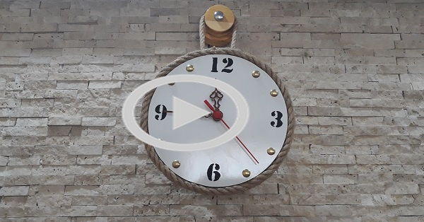 Jüt iple dekoratif duvar saati yapımı - KENDİN YAP