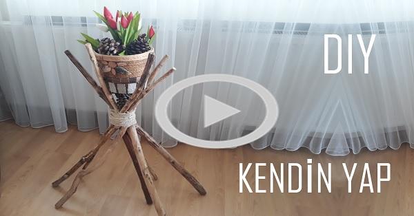 Otantik çiçeklik yapımı - KENDİN YAP