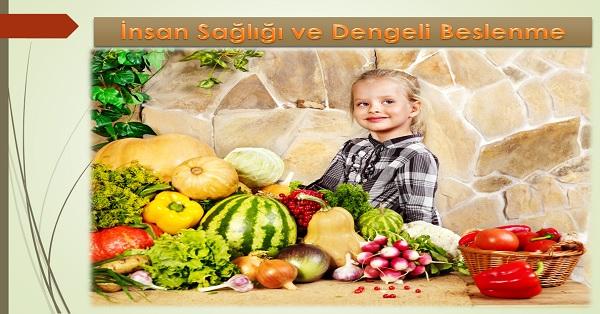 İnsan Sağlığı ve Dengeli Beslenme