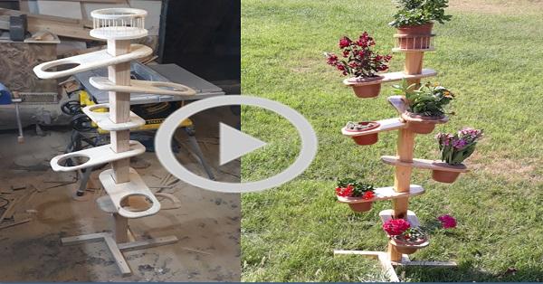 Seyyar çiçek saksı standı yapımı