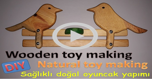 Ahşap naturel oyuncak yapımı