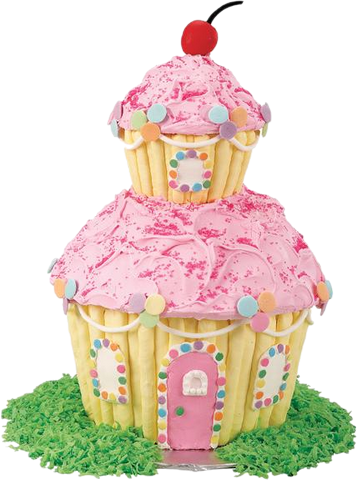 House-shaped birthday cake
